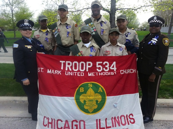 Boy Scout Troop 534 at St Jude Memorial March